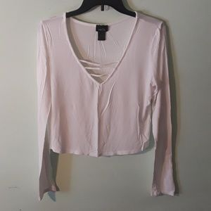 Rue 21 longsleeve crop top